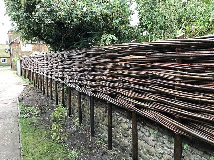 Burnham Willow woven Willow Fencing.