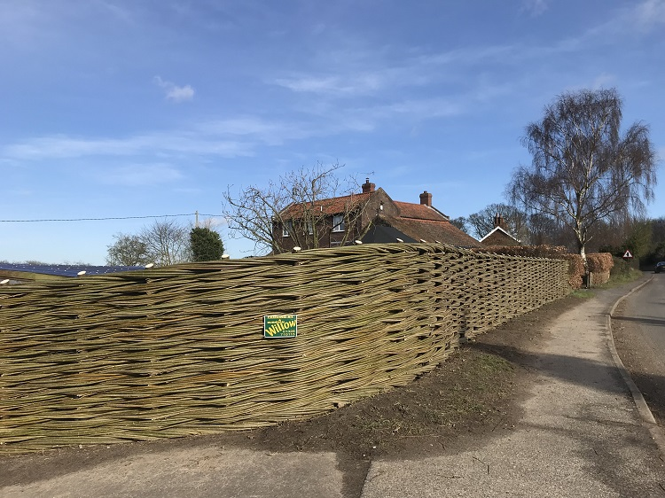 Burnham Willow Natural Woven Fencing