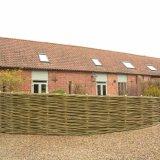 Burnham Willow woven willow fence.