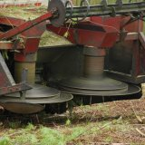 Circular Cutting Blades on a converted Combine