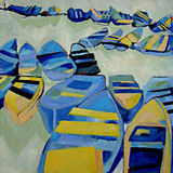 Blue Moroccan Boats
