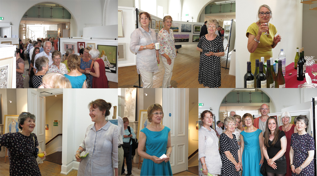 A Montage of photos from the exhibition opening on Sat 17th June 2017
