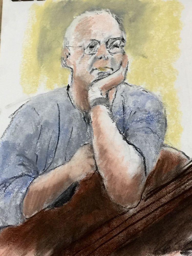 Chris Stewart, author. Pastel sketch