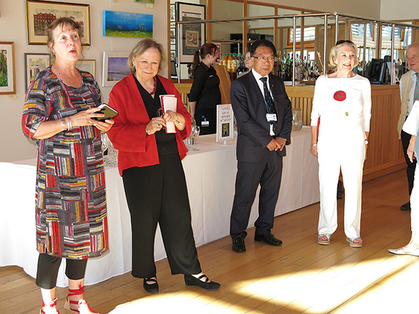 Opening exhibition, Rosie Copland and Lady Carla Carlisle