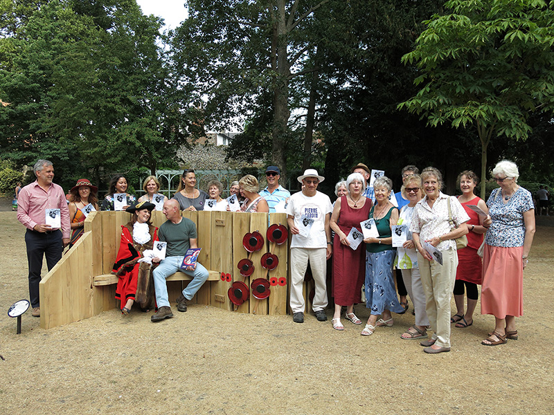 Opening of the WW1 Art Trail in Bury St Edmunds July 2018