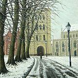 Snow in Bury St Edmunds