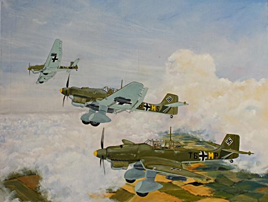 Stuka Dive Bombers on Patrol