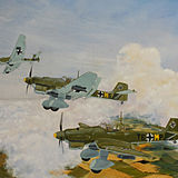 Stuka Dive Bombers on Patrol