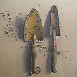 Two trowels
