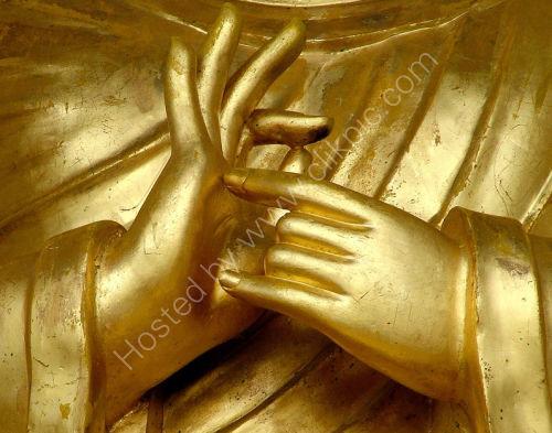 Golden hand gesture