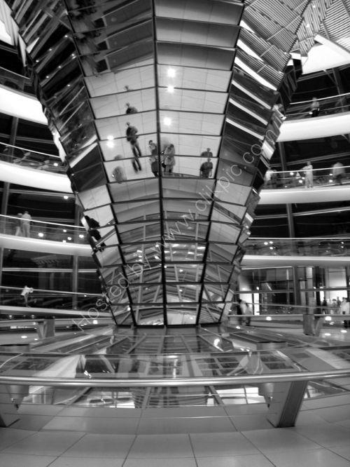 Interior of Copula, Reichstag, Berlin.