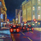 "bond street 15""x15"" acrylic on 3D canvas"