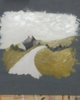 In the style of Kyffin Williams by Joy Sanders