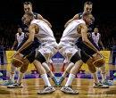 Double Trouble. Birmingham Knights BBL Basketball player Josh-Rolls Tyson
