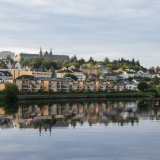Early morning reflections in the Nidelva, Trondheim