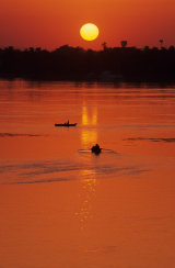 Red Sunset, River Nile, Egypt