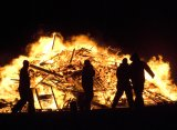 New Year's Eve Bonfire, Iceland, West of Grindavik