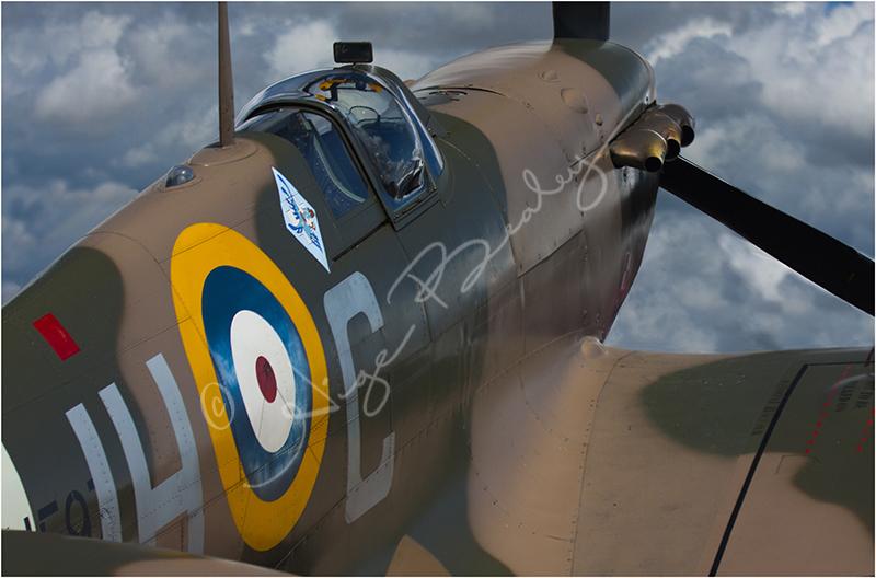 A static Spitfire