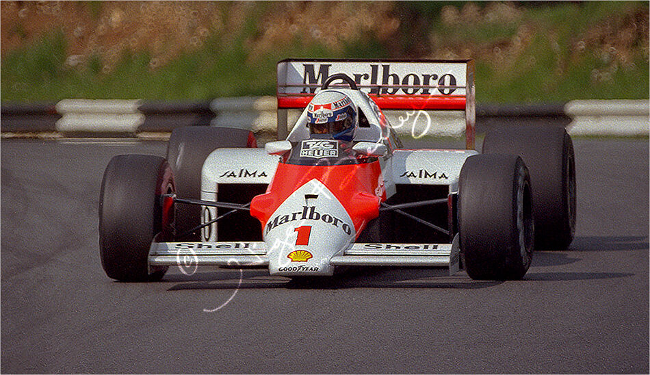 Alain Prost at Brands Hatch 1986