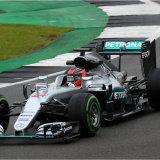 Lewis Hamilton's car driven by Ocon