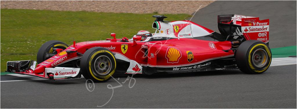 Ferrari at Silverstone test day