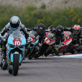 Ducatis' at the chicane