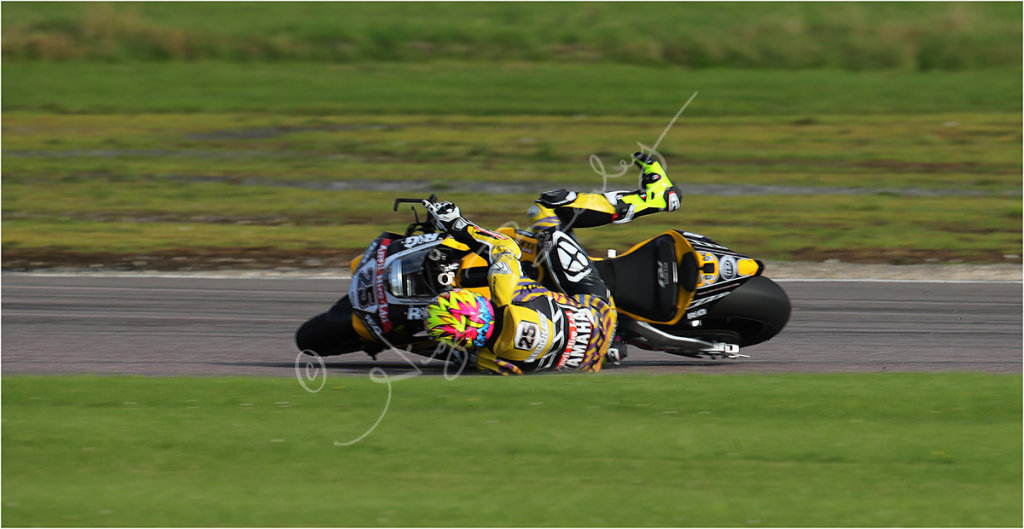 Whoops!! Josh Brookes at the moment he dropped it!