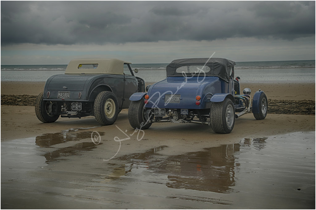 Classic Rods on the beach