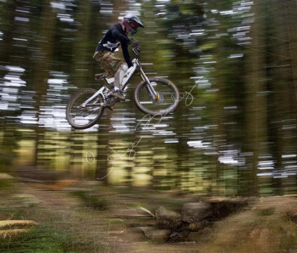 Airborne Mountain Biker