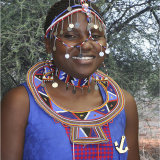 Kenyan Lady in tribal dress