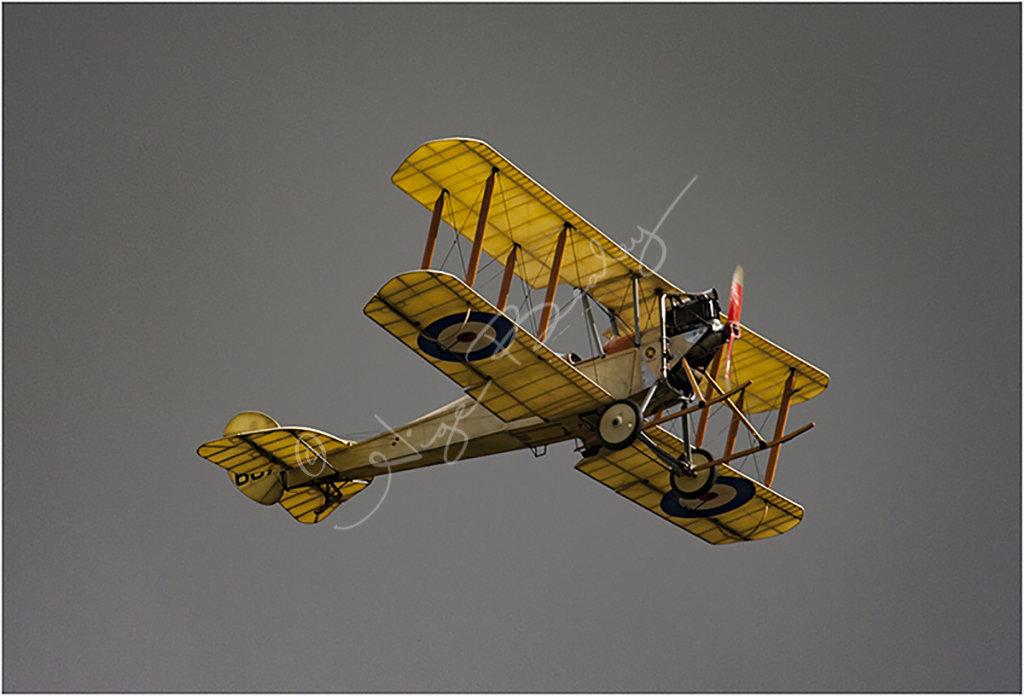 Back lit WW1 Bi Plane