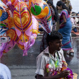 Balloon seller in Candy