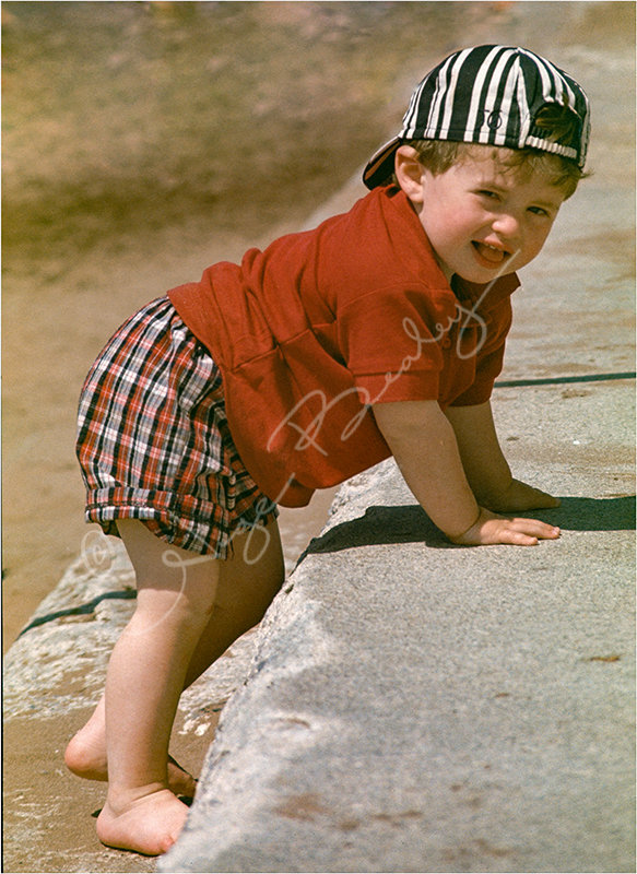 My son Mike on the beach. Great strapping lad he is now.