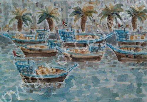 'Dhows on Dubai Creek'