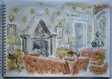 'Entrance hall St Brides Castle, Pembrokeshire'