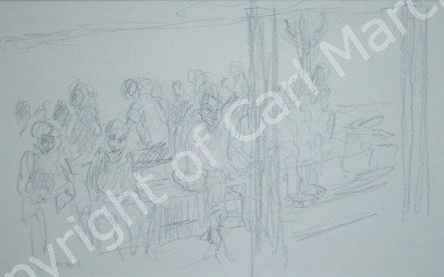 'Passengers waiting on the Abra, Dubai Creek'