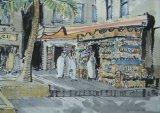 'Sandal stall at the textile souq, Dubai Creek'
