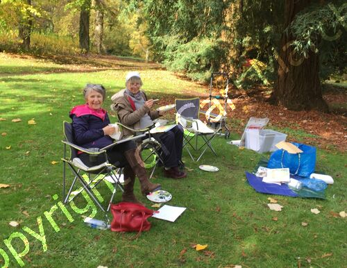 Watercolour workshop at Batsford Arboretum.