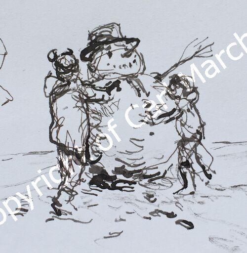 'The jolly snowman'