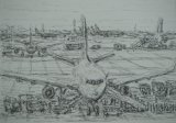 'Watching the aeroplanes from the departure lounge'