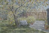 'Wheelbarrow under the damson tree'