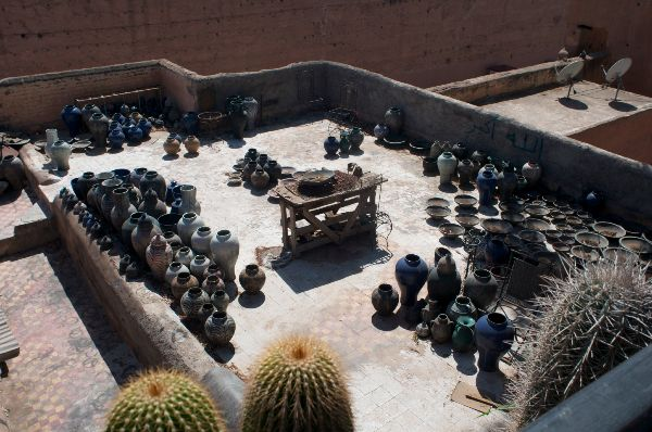 Rooftop Pottery -  Marrakech 2014