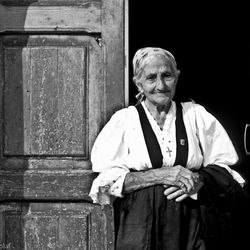 Lady with traditional dress, Pisticci, Basilicata, Italy 1986
