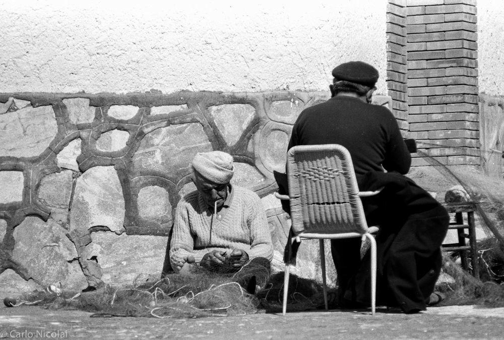 Fixing the nets, Amalfi Coast, Italy 1988