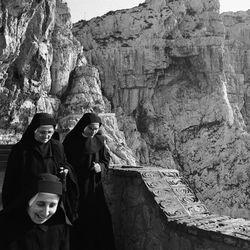Nuns on holiday, Capo Caccia, Sardinia, Italy 1982