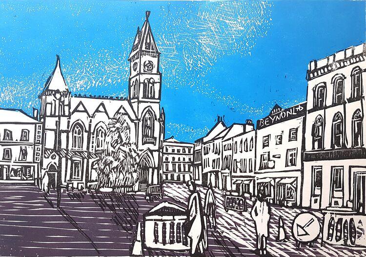 Newbury Marketplace Blue sky