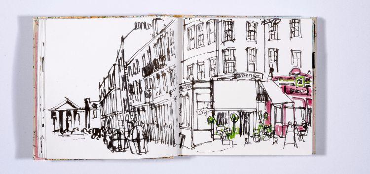 orange sketchbook street