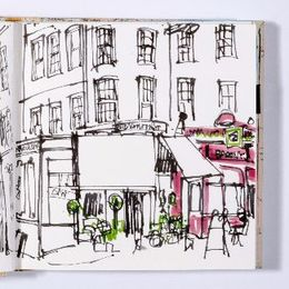 orange sketchbook street