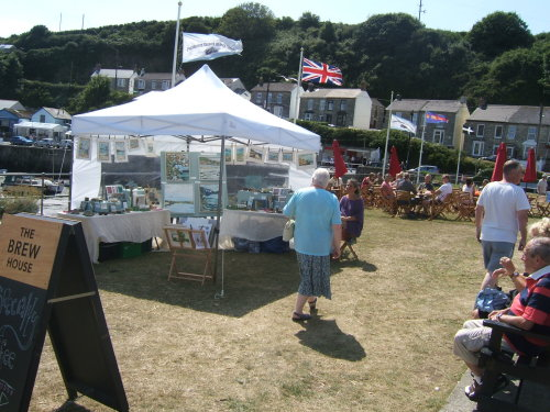 Pop Up Gallery at Porthleven harbour market, summer 2014