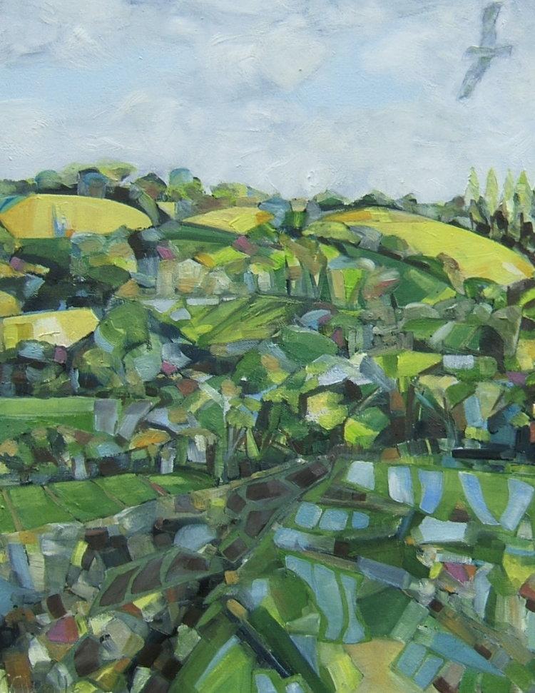 Yellow fields, Broughton
